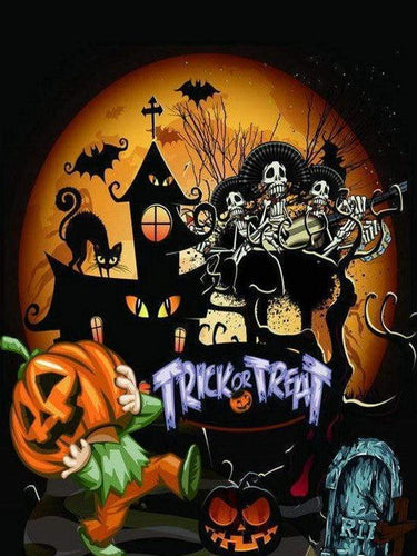 5D Diamond Painting Trick or Treat Collage Kit