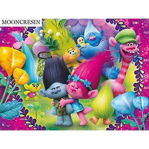5D Diamond Painting Trolls Hugs Kit