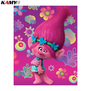 5D Diamond Painting Trolls Poppy Kit