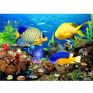 5D Diamond Painting Tropical Fish Aquarium Kit