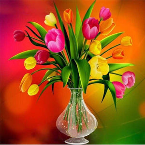 5D Diamond Painting Tulip Centerpiece Kit