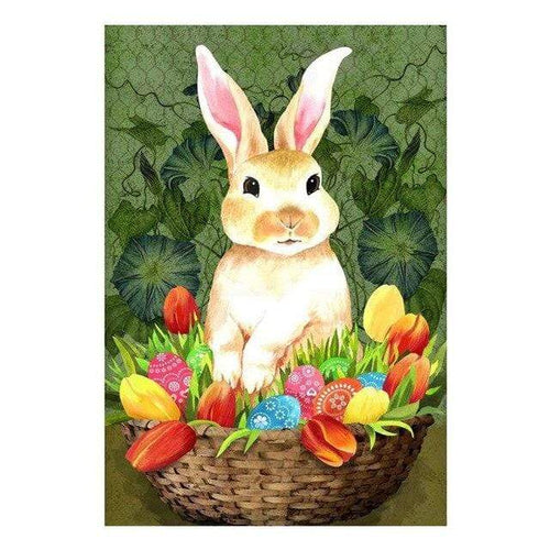 5D Diamond Painting Tulip & Egg Bunny Basket Kit