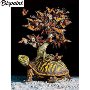 5D Diamond Painting Turtle Butterfly Tree Kit