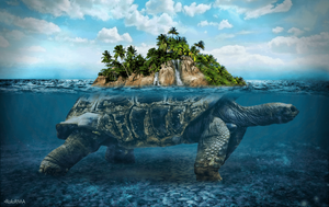 5D Diamond Painting Turtle Island Kit