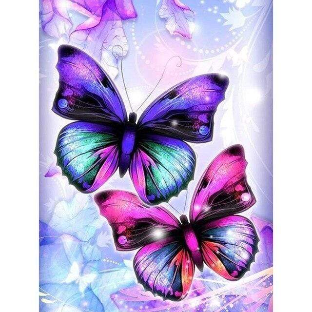 5D Diamond Painting Two Butterflies Kit