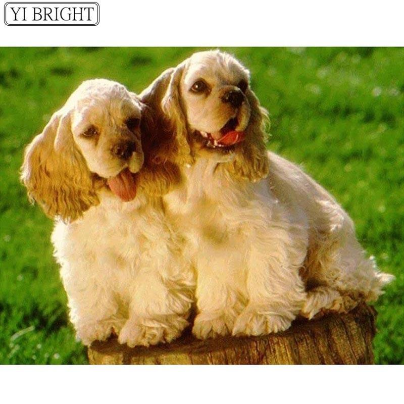 5D Diamond Painting Two Cocker Spaniel Puppies Kit