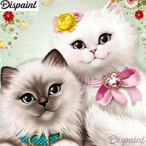 5D Diamond Painting Two Fluffy Cats Kit