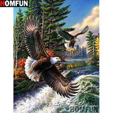 5D Diamond Painting Two Flying Eagles Kit
