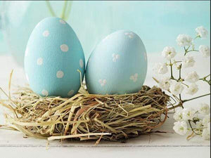 5D Diamond Painting Two Light Blue Easter Eggs kit