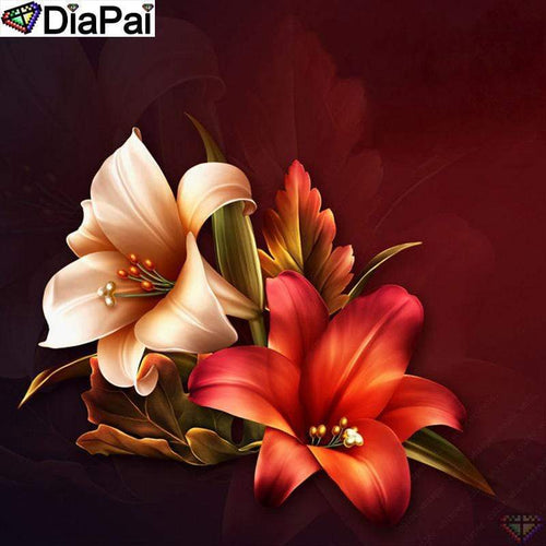 5D Diamond Painting Two Lilies Kit