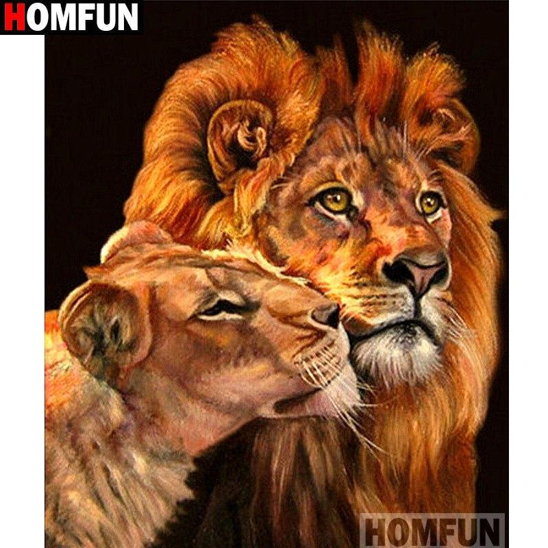 5D Diamond Painting Two Lions Kit