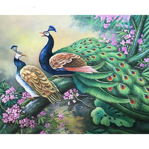 5D Diamond Painting Two Peacocks Kit