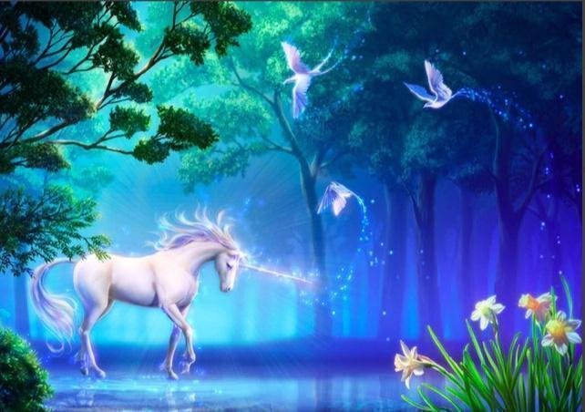 5D Diamond Painting Unicorn in the Forest Kit