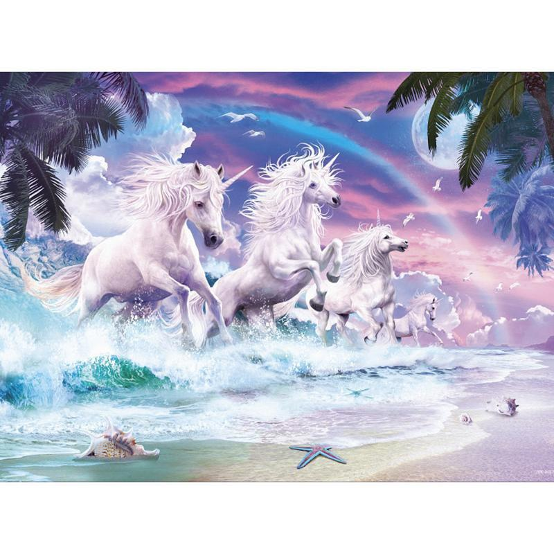 5D Diamond Painting Unicorns from the Sea Kit
