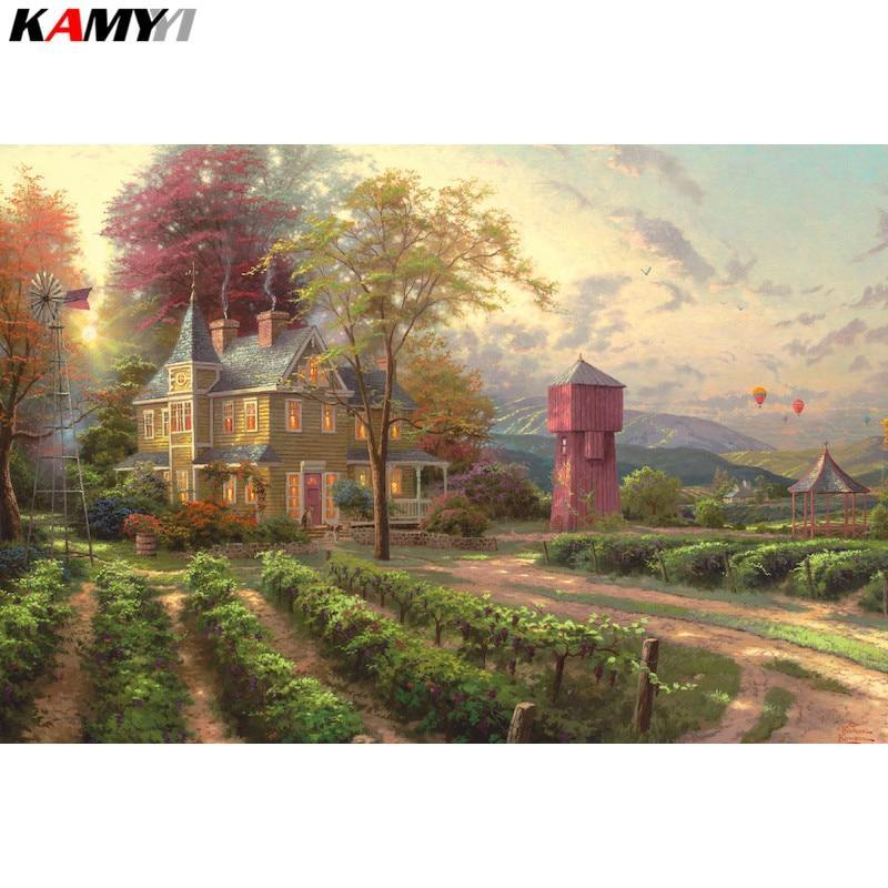 5D Diamond Painting Vineyard Mansion Kit