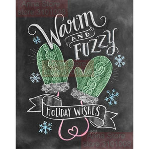 5D Diamond Painting Warm and Fuzzy Chalk Board Kit