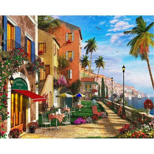5D Diamond Painting Water Front Path Kit