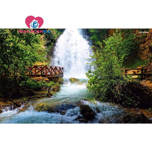 5D Diamond Painting Waterfall Viewpoint Kit