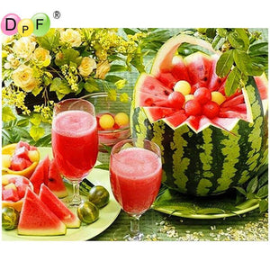 5D Diamond Painting Watermelon Picnic Kit