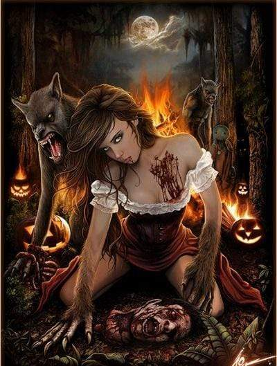 5D Diamond Painting Werewolf Girl Kit
