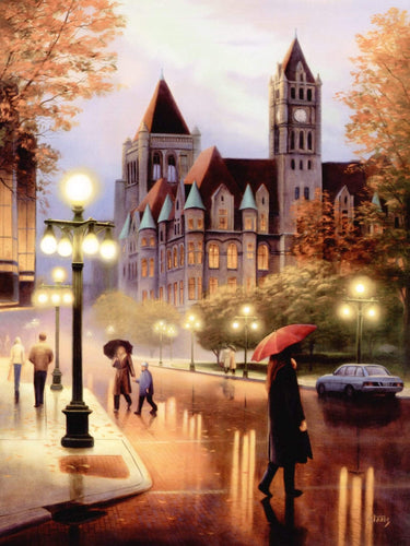 5D Diamond Painting Wet Streets Of London Kit