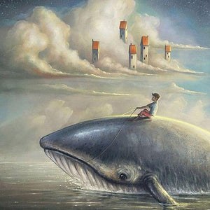 5D Diamond Painting Whale Riding Kit