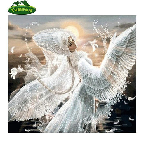 5D Diamond Painting White Angel Kit