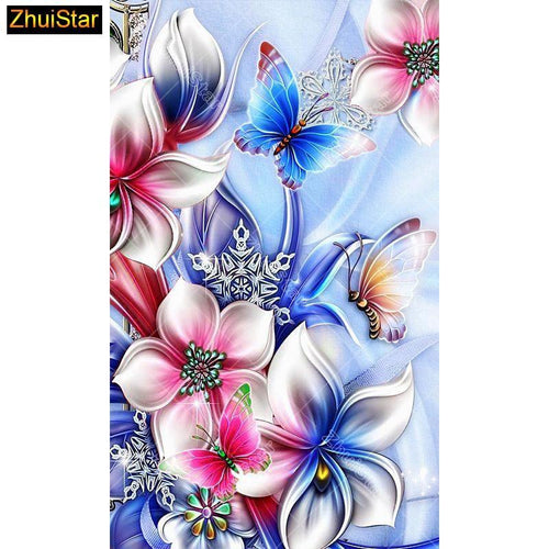 5D Diamond Painting White Color Burst Flowers Kit