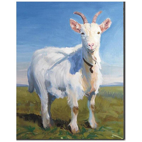 5D Diamond Painting White Goat Kit