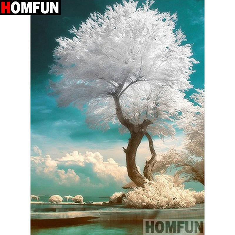 5D Diamond Painting White Tree Kit