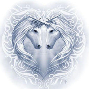 5D Diamond Painting White Unicorns Kit