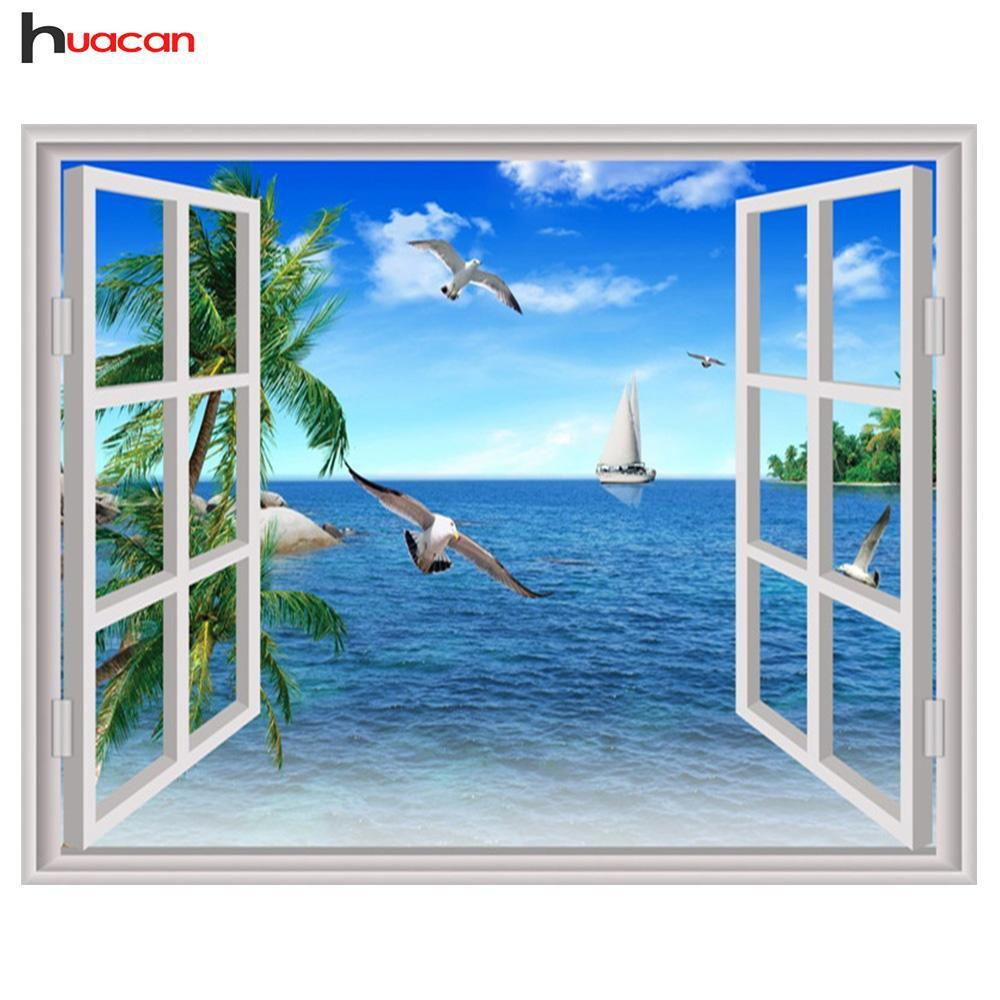5D Diamond Painting Window View Kit
