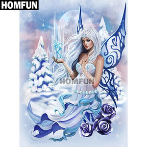 5D Diamond Painting Winter Fairy