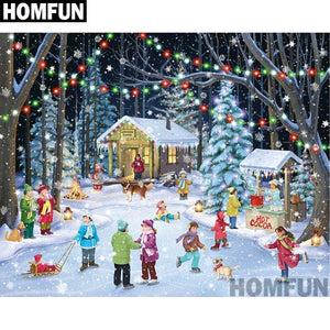 5D Diamond Painting Winter Fun Kit