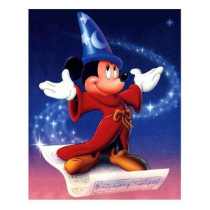 5D Diamond Painting Wizard Mickey Mouse Music Notes Kit