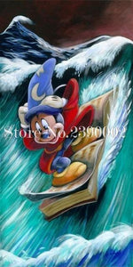5D Diamond Painting Wizard Mickey Surfing Kit