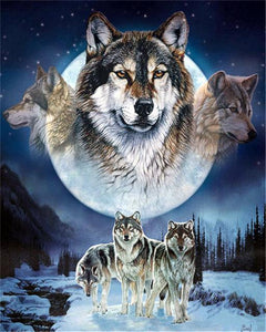 5D Diamond Painting Wolf Pack Kit
