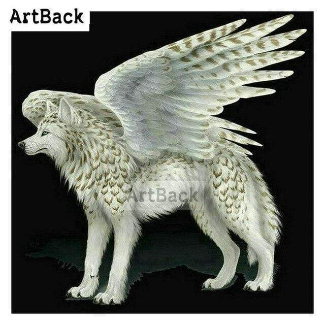 5D Diamond Painting Wolf with Wings Kit