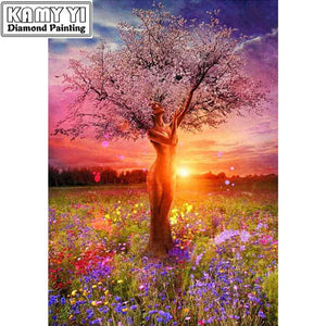 5D Diamond Painting Woman figure Tree Kit