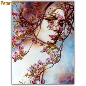 5D Diamond Painting Woman in the Branches Kit