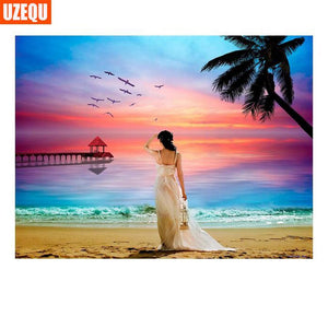 5D Diamond Painting Woman on the Beach Kit