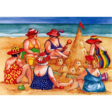 5D Diamond Painting Women Making Sandcastles Kit