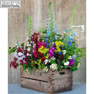 5D Diamond Painting Wooden Flower Box Kit