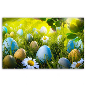 5D Diamond Painting Yellow & Blue Easter Eggs Kit