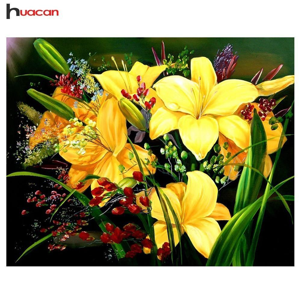 5D Diamond Painting Yellow Flowers Kit