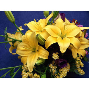 5D Diamond Painting Yellow Star Lilly Kit