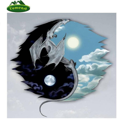 5D Diamond Painting Yin Yang Dragon Kit