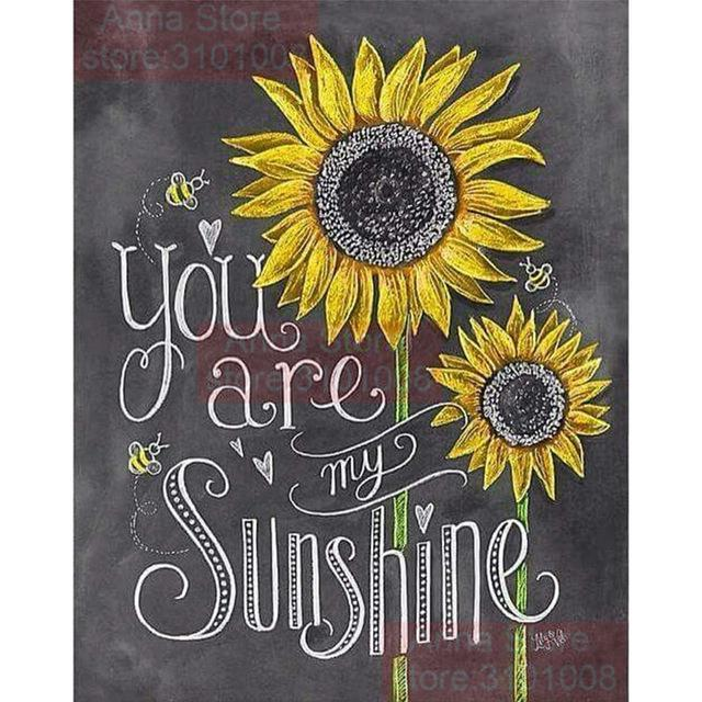 5D Diamond Painting You are my Sunshine Kit
