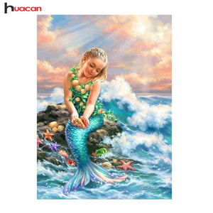 5D Diamond Painting Young Mermaid Girl Kit