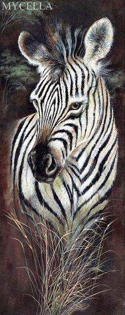 5D Diamond Painting Zebra Profile Kit